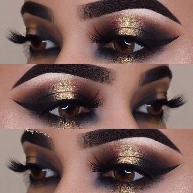 23 Glitzy New Year's Eve Makeup Ideas - crazyforus