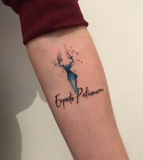 Expecto Patronum Tattoo