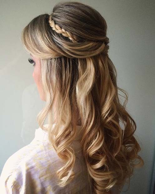 Vintage Glamour Prom Hair Idea