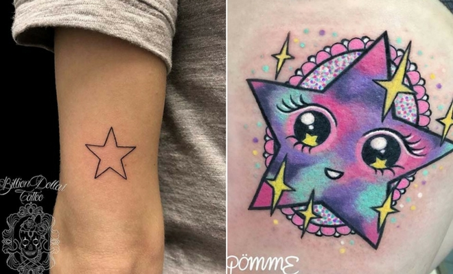 Cool Star Tattoo Drawings