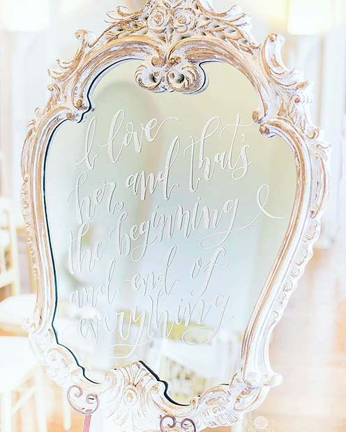 Creative Vintage Mirror Decor Idea