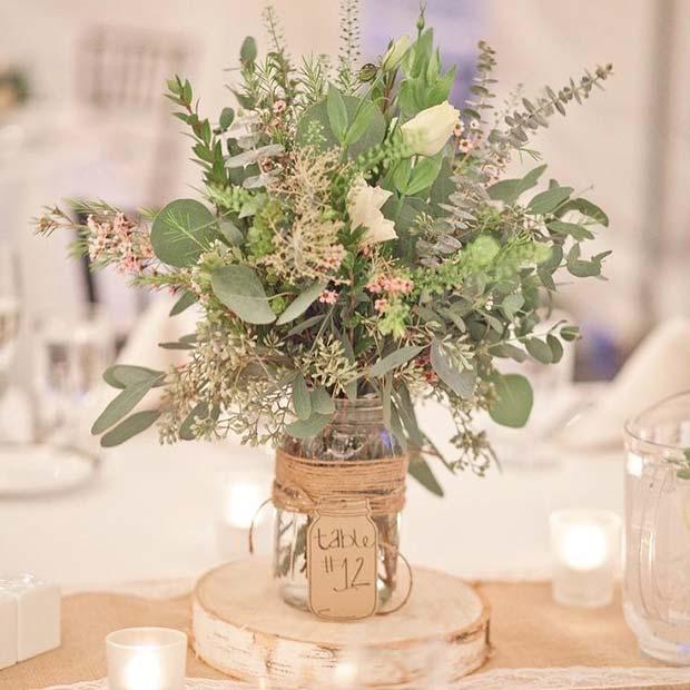 Vintage Wedding Floral Table Centerpiece