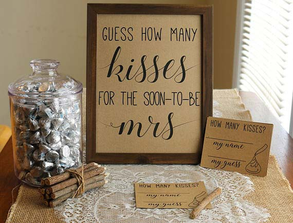 How Many Kisses Bridal Shower Game