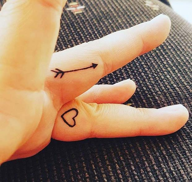 Trendy Arrow Finger Tattoo Idea