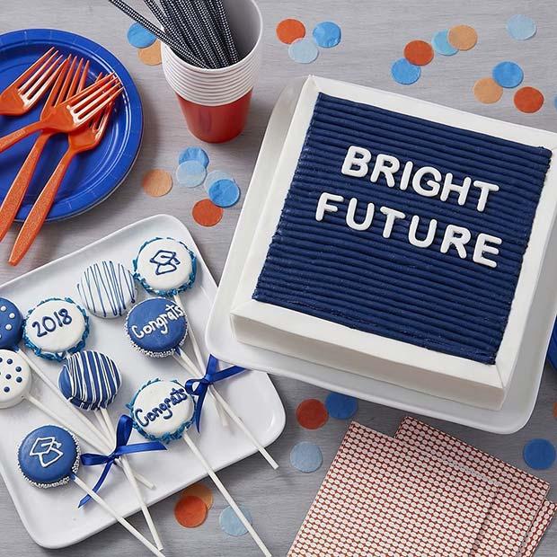 Graduation Party Cake Idea - Bright Future