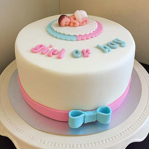 21 Cute And Fun Gender Reveal Cake Ideas Crazyforus