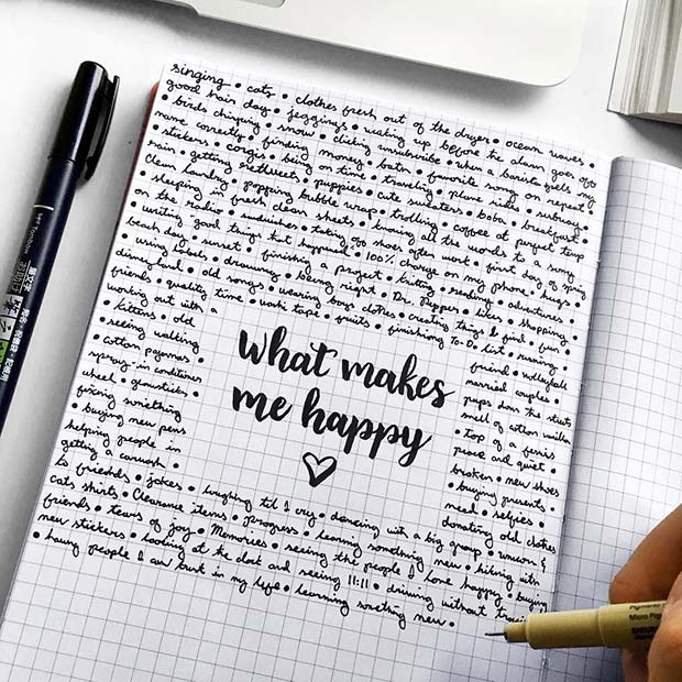 Happiness Page Bullet Journal Idea