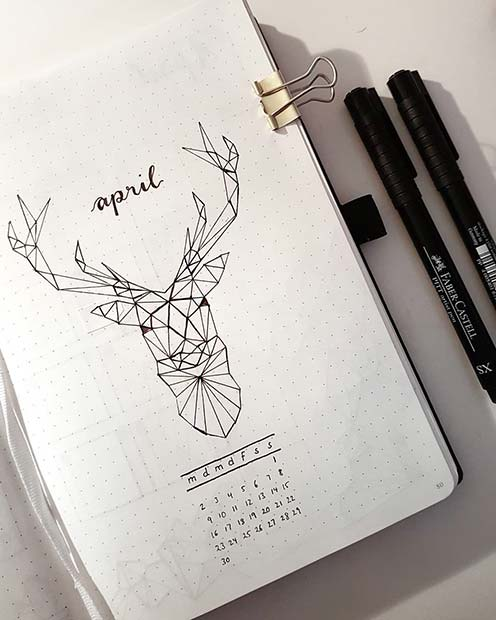 Month Page Idea for Bullet Journal