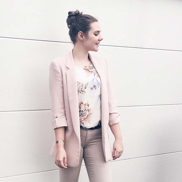 Neutrals and Floral Print Outfit Idea