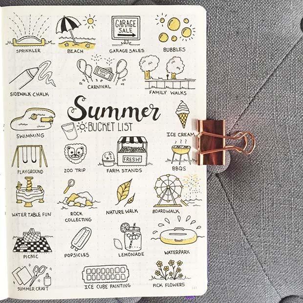Summer Bucket List Idea for BuJo