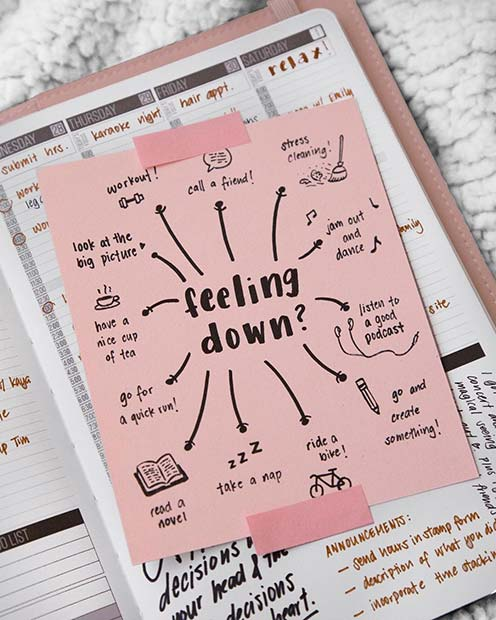 Things to Make You Feel Better BuJo Idea