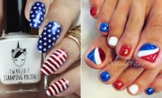 4th of july nails celebrate