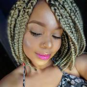cool blonde box braids hairstyles