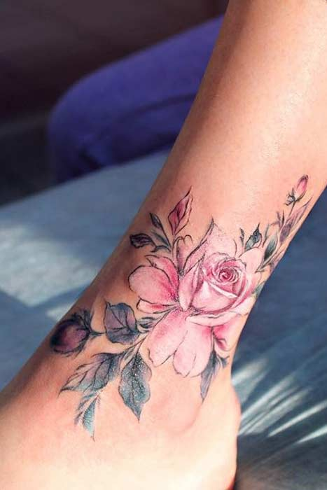 Small Rose Tattoo On Foot : small, tattoo, Awesome, Tattoos, Women, StayGlam