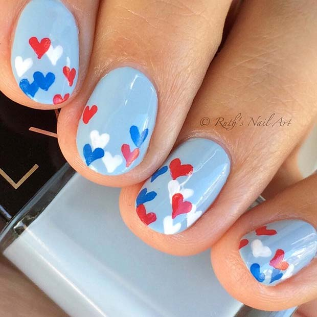 Cute 4th of July Nail Art Design