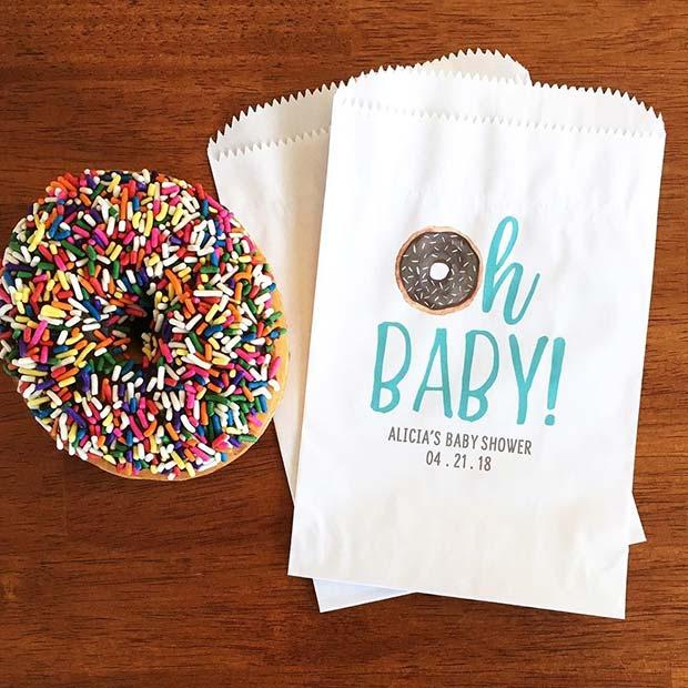 Delicious Doughnuts as Baby Shower Favor