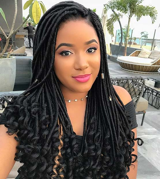 Gorgeous Goddess Faux Locs with Cuffs