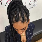 cool ways wear feed in cornrows
