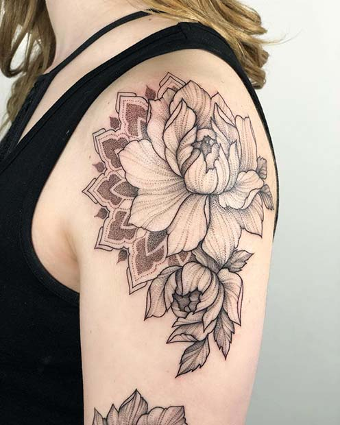f27f5dc45 21 Most Beautiful Shoulder Tattoos for Women - crazyforus