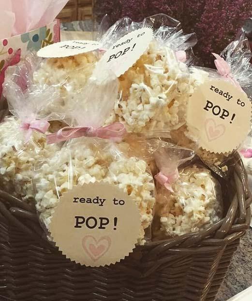 Ready to Pop Popcorn - Baby Shower Favor Idea