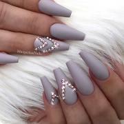 elegant nail design with rhinestones