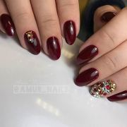 chic burgundy nails ll fall