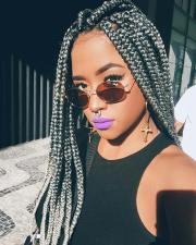 pretty box braids with color