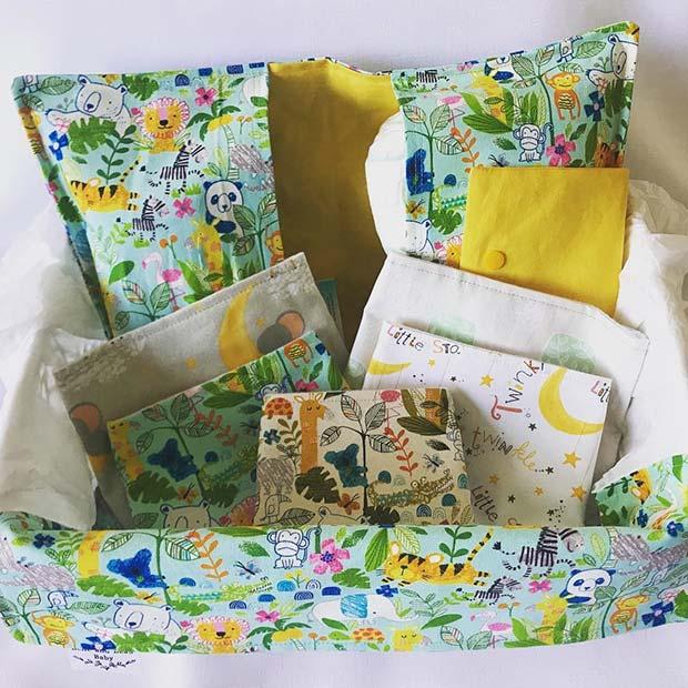 Baby Shower Gift Basket with Essentials