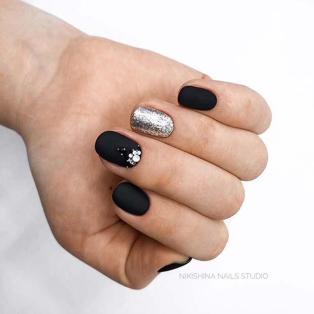 21 Edgy Matte Black Nails To Inspire You Crazyforus