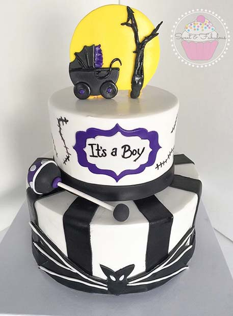 nightmare before christmas baby shower cake idea