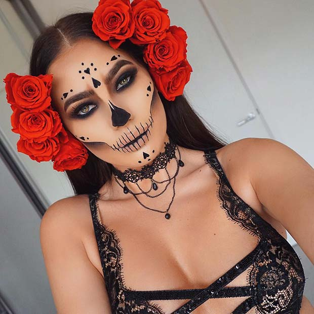 Sugar Skull Makeup for Halloween