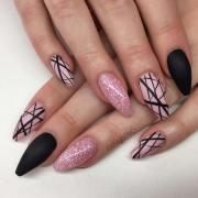 edgy matte black nails inspire