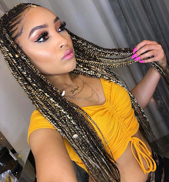 Beautiful Blonde Fulani or Tribal Braids