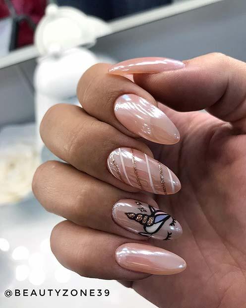 Glam Glitter Unicorn Nails