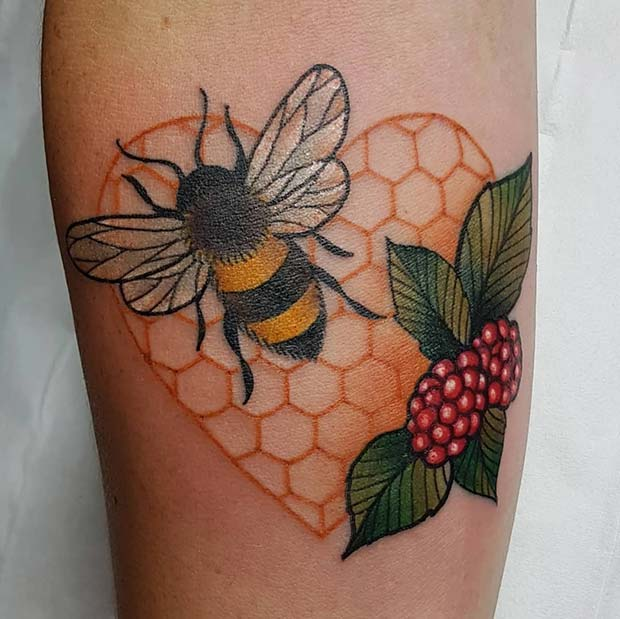 Honey Bee Tattoo Small