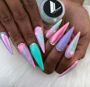 magical unicorn nails