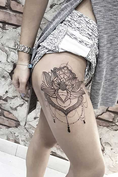 45 Pretty Lotus Flower Tattoo Ideas for Women  Page 2 of
