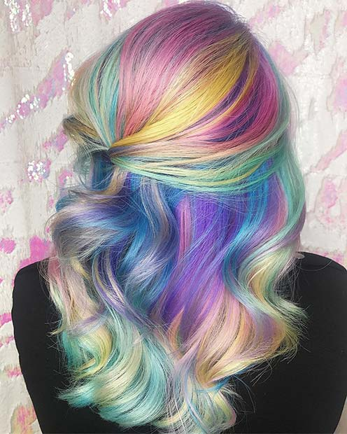 Pretty Pastel Hair Color Idea