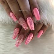 stunning nail art design coffin