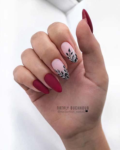 Elegant Matte Red Nails