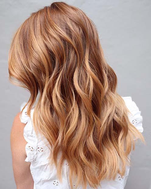 Stylish Strawberry Blonde Hair Color Idea