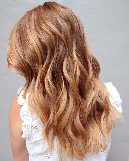 Stylish Strawberry Blonde Hair Color Idea