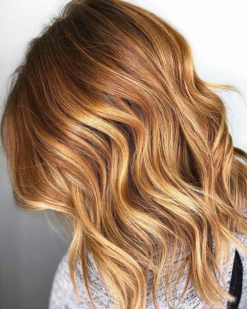 Summery Strawberry and Honey Blonde Hair