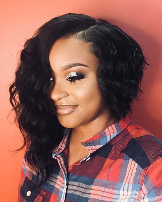 Asymmetrical Bob Haircut for Black Women