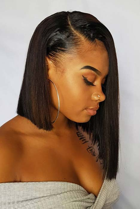 Blunt Cut Bob for Black Women
