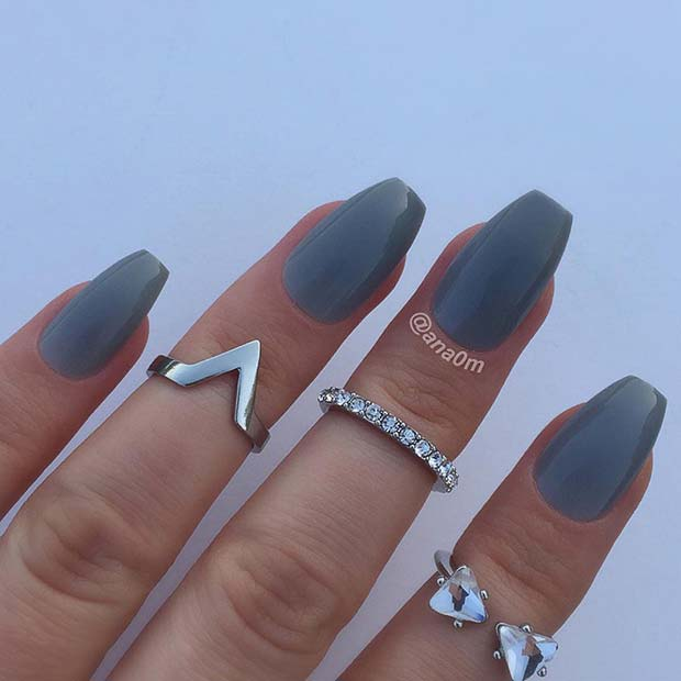 Bold, Short Coffin Nails