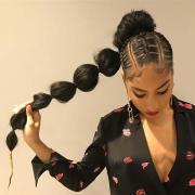 ways wear weave ponytail