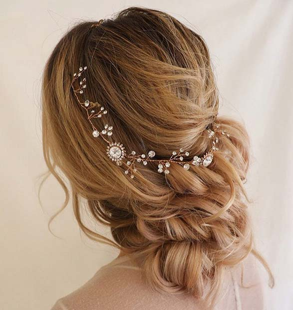 Loose, Elegant Boho Braided Bun