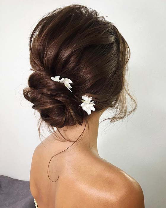 Pretty Low Bun Updo