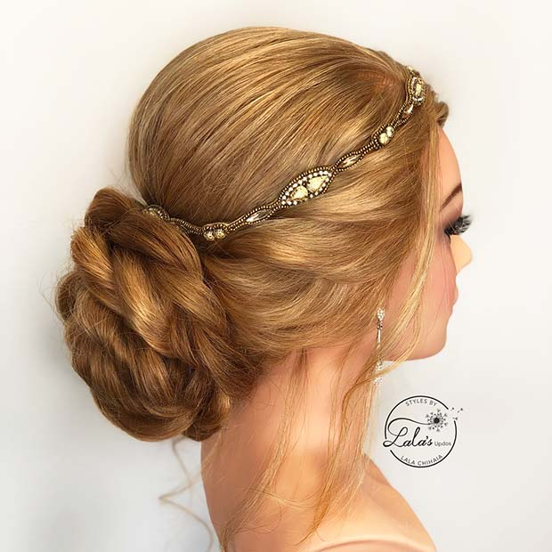 Vintage Wedding Updo for Brides